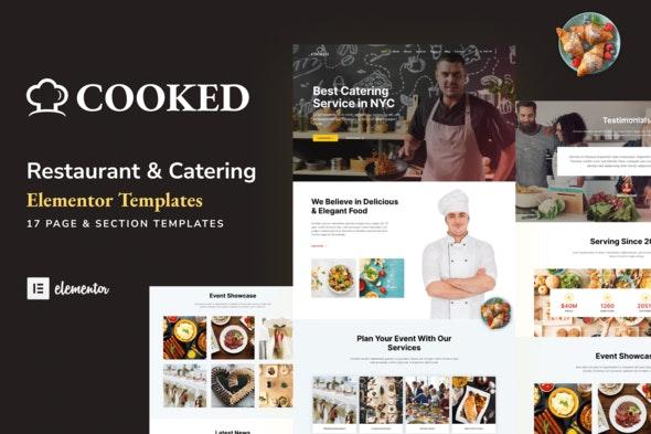 Cooked - Catering & Restaurant Website Elementor Template Kit - Food & Drink Elementor