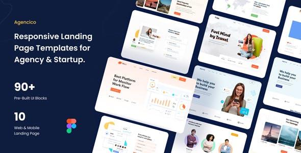 Agencico-Responsive Landing Page Templates & UI Kit