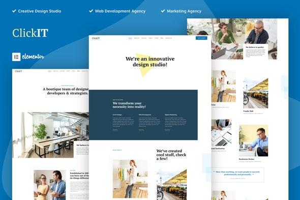 ClickIT - Creative Digital Agency Elementor Template Kit - Creative & Design Elementor