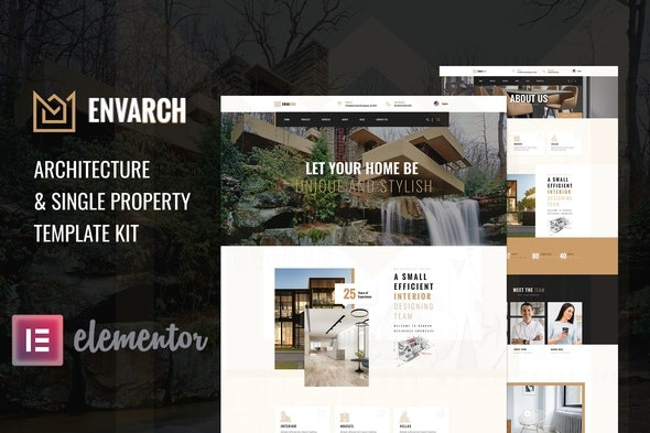 EnvArch – Architecture & Single Property Elementor Template Kit - Business & Services Elementor