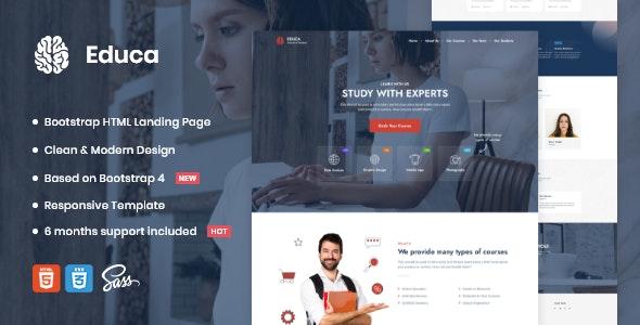 Educa | Landing Page Template - Portfolio Creative