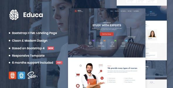 Educa | Landing Page Template