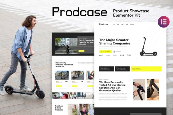 Prodcase - Product Launch & Showcase Template Kit - Technology & Apps Elementor