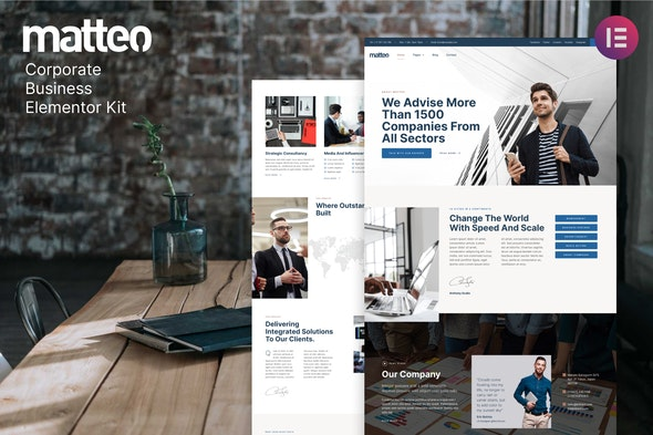 Matteo – Corporate Business Elementor Template Kit - Business & Services Elementor