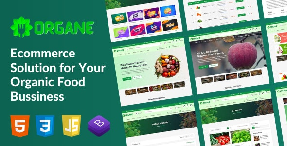Organe - Organic Food HTML Template - Food Retail
