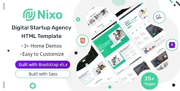 Nixo - Digital Startup Agency HTML Template - Technology Site Templates