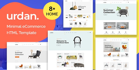 Urdan - Minimal eCommerce HTML Template - Shopping Retail