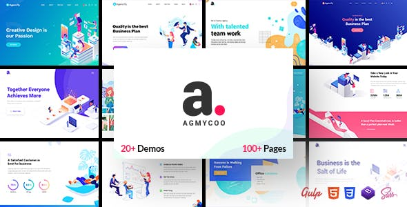 Agmycoo - Isometric Creative Digital Agency Portfolio Html Template