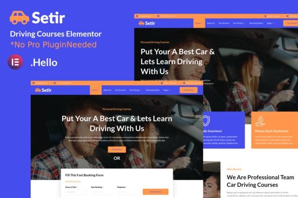 Setir - Driving Courses Elementor Template Kit - Automotive & Transportation Elementor
