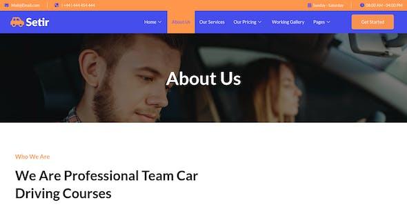 Setir - Driving Courses Elementor Template Kit