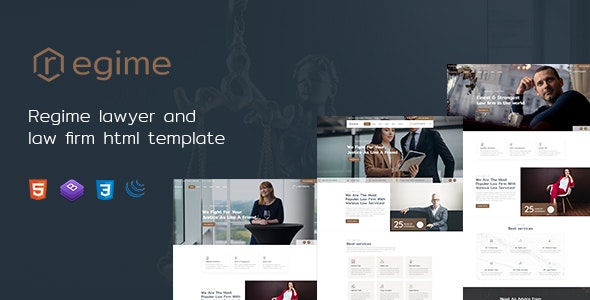 Regime - Lawyer and Law Firm HTML Template - Business Corporate