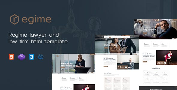 Regime - Lawyer and Law Firm HTML Template