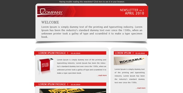 Company Newsletter - Email Template - Newsletters Email Templates