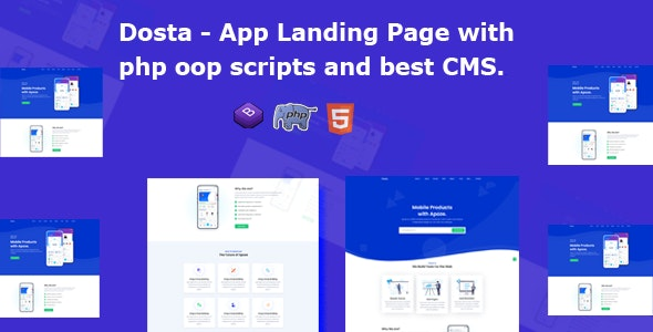 Dosta - App Landing Page Template - Technology Site Templates