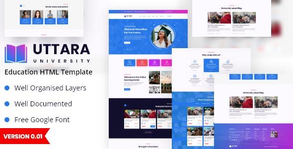 Uttara-Education HTML Template - Nonprofit Site Templates
