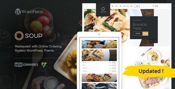 Soup - Online Food & Restaurant WP Theme - Restaurants & Cafes Entertainment