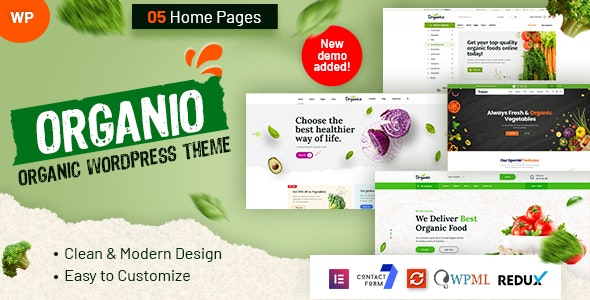Organio - Organic Food Store WordPress - WooCommerce eCommerce