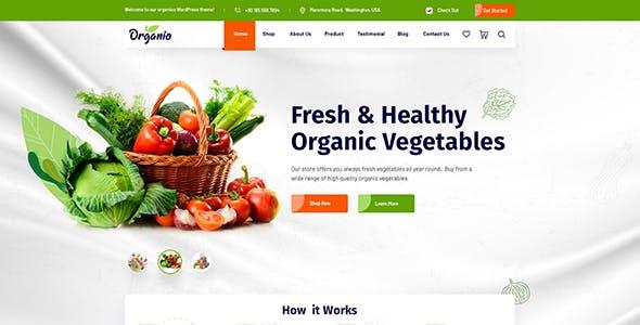 Organio - Organic Food Store WordPress