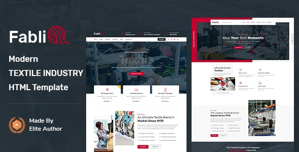 Fablio - Textile Industry HTML5 Template - Business Corporate