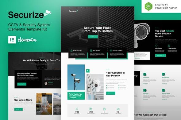 Securize – CCTV & Security Elementor Template Kit - Business & Services Elementor