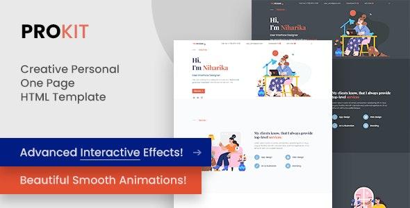 ProKit - Creative Personal Portfolio HTML Template - Portfolio Creative