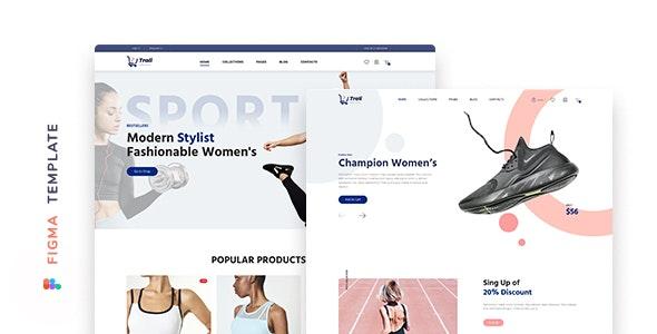 Trali – eCommerce Sportswear Template for Figma - Fashion Retail