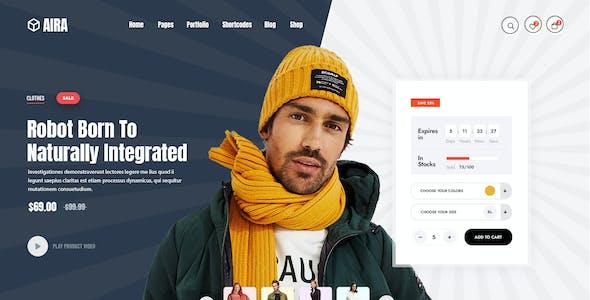 Aira - WooCommerce Hero Slider XD Template