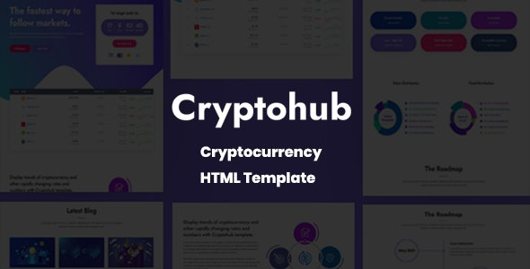 Cryptohub - Cryptocurrency HTML Template - Technology Site Templates