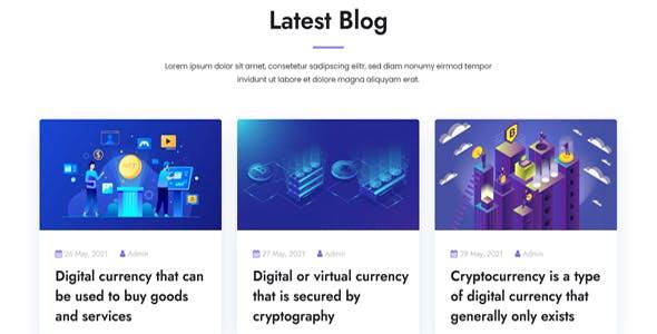 Cryptohub - Cryptocurrency HTML Template
