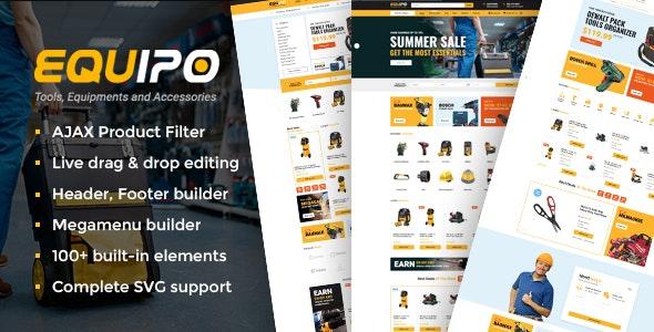 Equipo - Parts And Tools WordPress WooCommerce Theme - WooCommerce eCommerce
