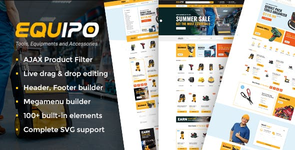Equipo - Parts And Tools WordPress WooCommerce Theme