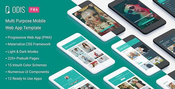 Odis: PWA Mobile App - Mobile Site Templates