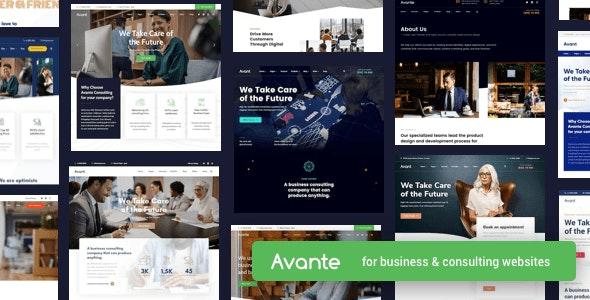Avante | Business Consulting WordPress - Business Corporate