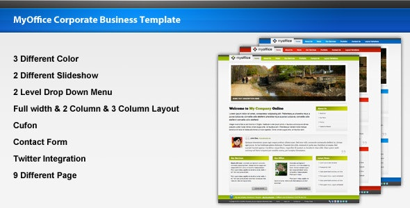 MyOffice Corporate Business Template - Business Corporate