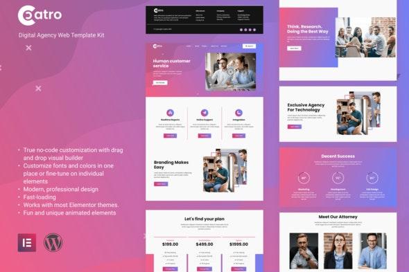 Coatro - Digital Agency Elementor Template Kit - Business & Services Elementor