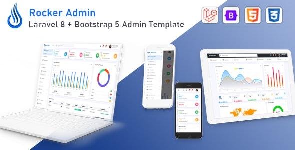 Rocker - Laravel 8 + Bootstrap 5 Admin Template - Admin Templates Site Templates