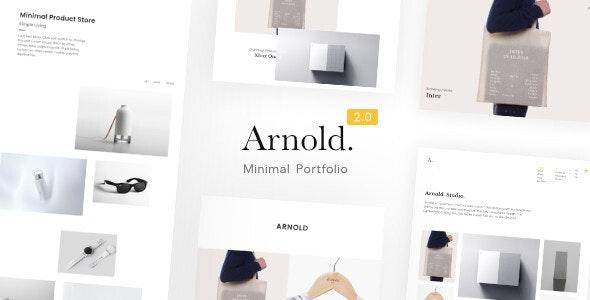 Arnold v2.1.0 – Minimal Portfolio WordPress Theme