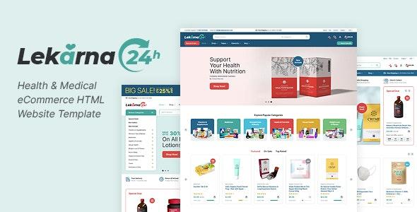 Lekarna24 - Health & Medical eCommerce HTML Website Template - Health & Beauty Retail