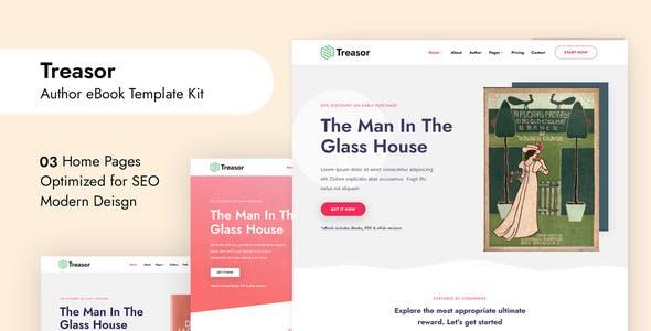 Treasor - Author eBook Elementor Template Kit