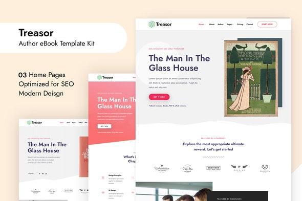 Treasor - Author eBook Elementor Template Kit - Technology & Apps Elementor