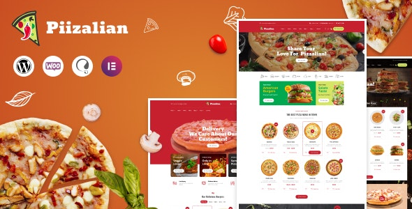 Piizalian - Fast Food Restaurant WordPress Theme - WooCommerce eCommerce