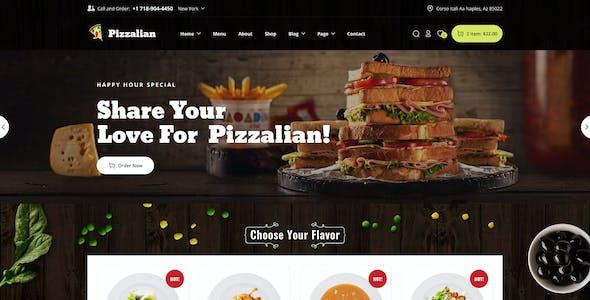 Piizalian - Fast Food Restaurant WordPress Theme