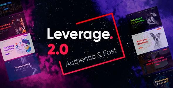Leverage v2.1.1 – Creative Agency & Portfolio WordPress Theme