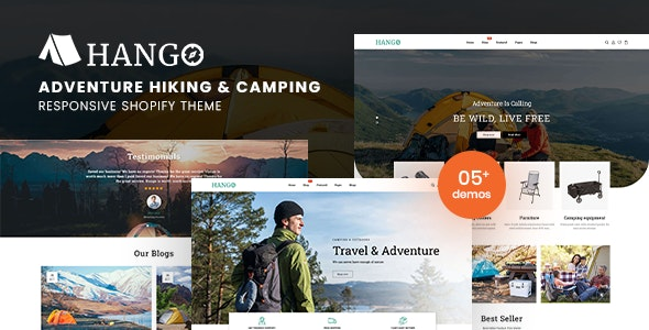 Hango - Adventure Store Hiking And Camping Shopify Theme - Shopify eCommerce