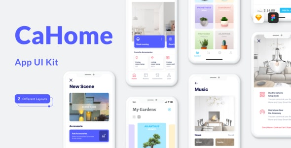 Cahome - Smart Home UI Kit - Miscellaneous Sketch