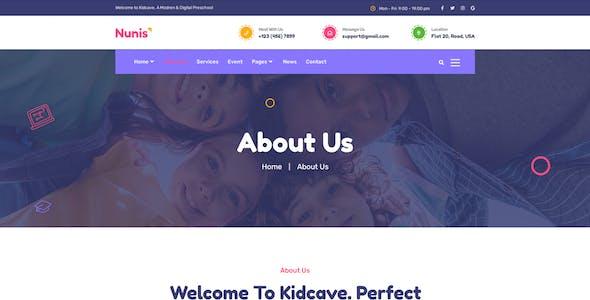 Nunis - Kindergarten Elementor Template Kit