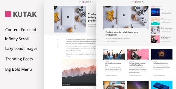 Kutak - Minimal Blog WordPress Theme - Blog / Magazine WordPress