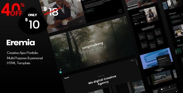 Eremia - Creative Ajax Portfolio Multi-Purpose & personal HTML Template - Portfolio Creative