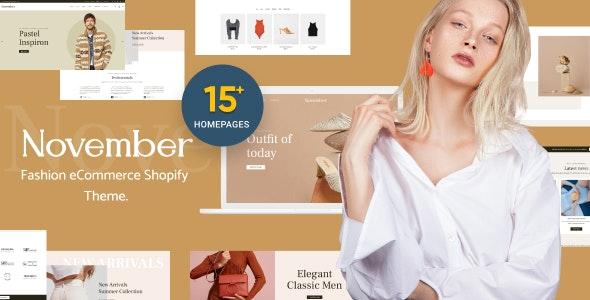 November - Multipurpose Sections Shopify Theme - Fashion Shopify