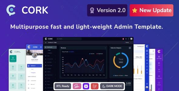 Cork v2.1.1 – Responsive Admin Dashboard Template